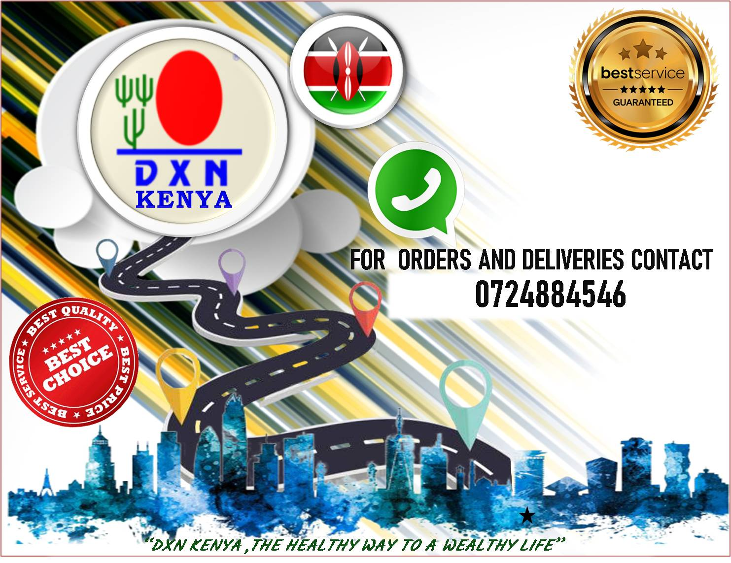 <h4>DXN Kenya Delivery Services</h4><p><p>Due to the current covid-19 pandemic and the advisory to limit movements with the aim of reducing the risk of infection,we as DXN Kenya got you on your need to purchase the products.</p>